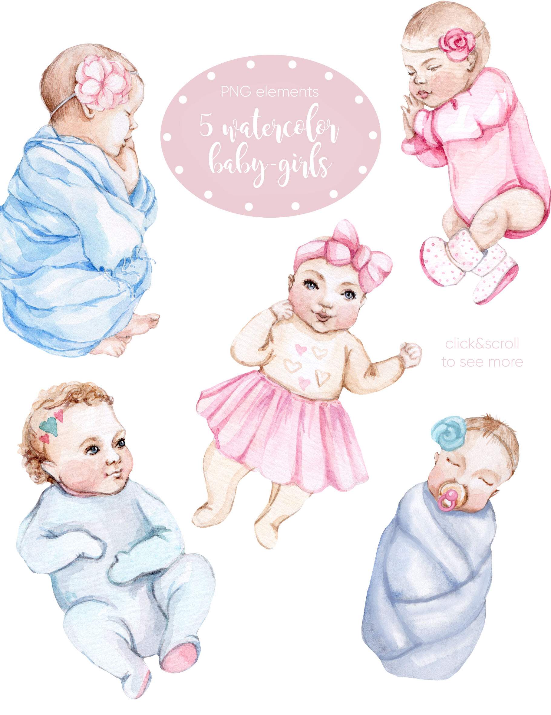 Watercolor New Honey Baby Girl By S Artlove Thehungryjpeg Com