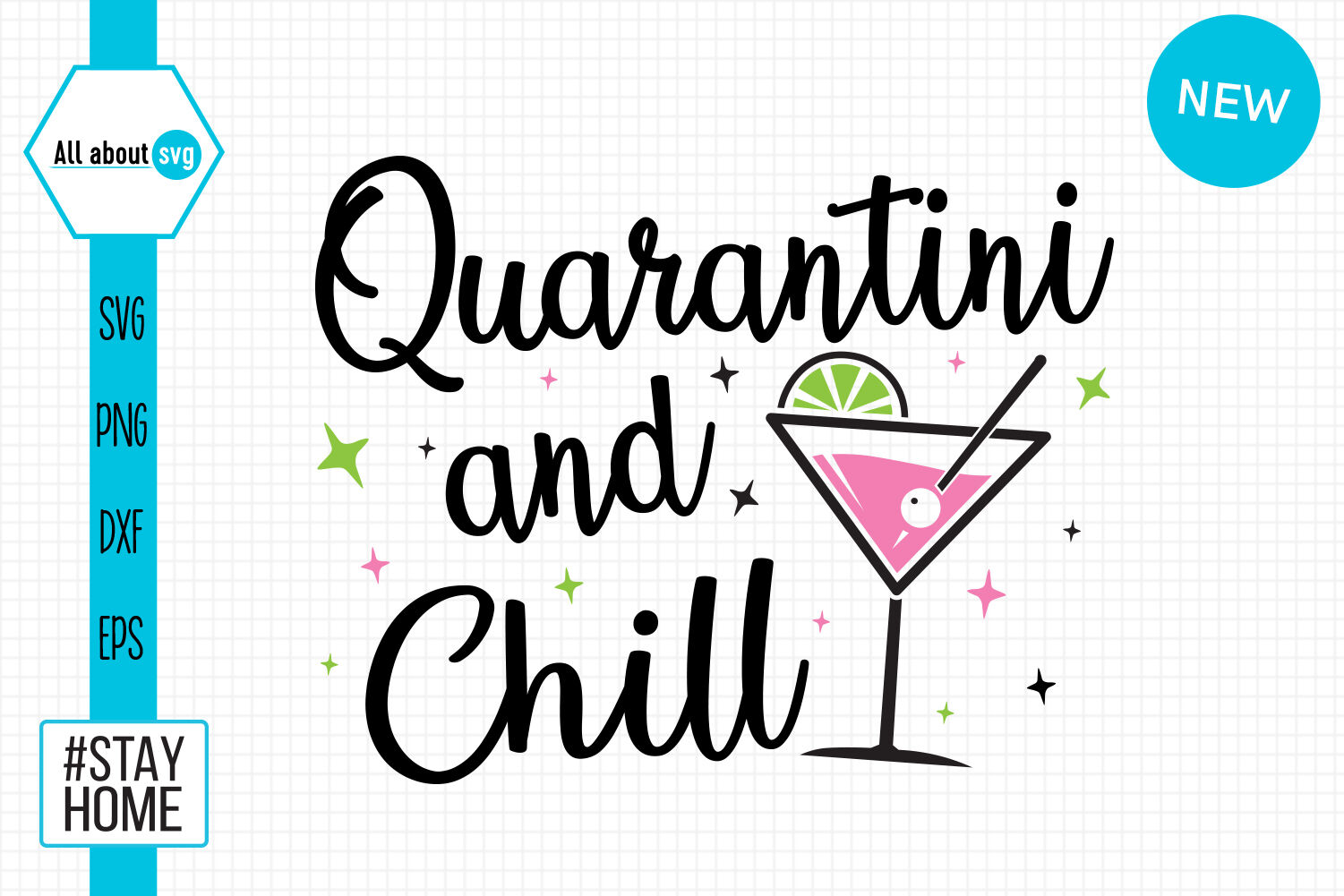 Quarantini And Chill Svg By All About Svg Thehungryjpeg Com