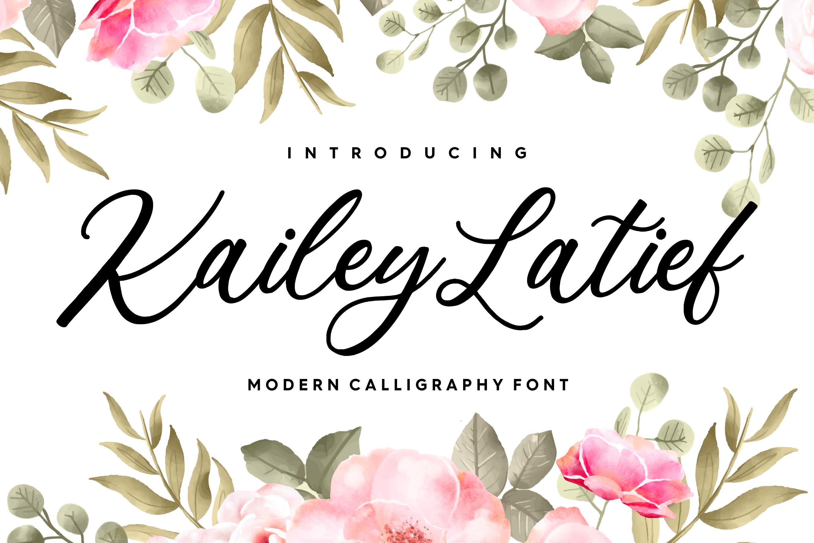 Kailey Latief Modern Calligraphy Font By Balpirick Studio