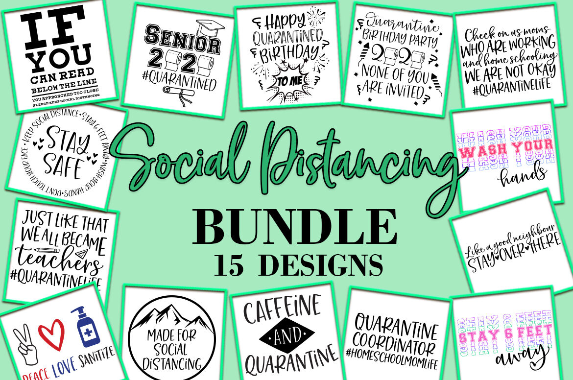 Social Distancing Bundle Svg By Freeling Design House