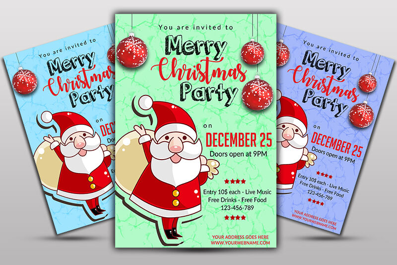 Christmas Flyer By Ayme Designs Thehungryjpeg Com