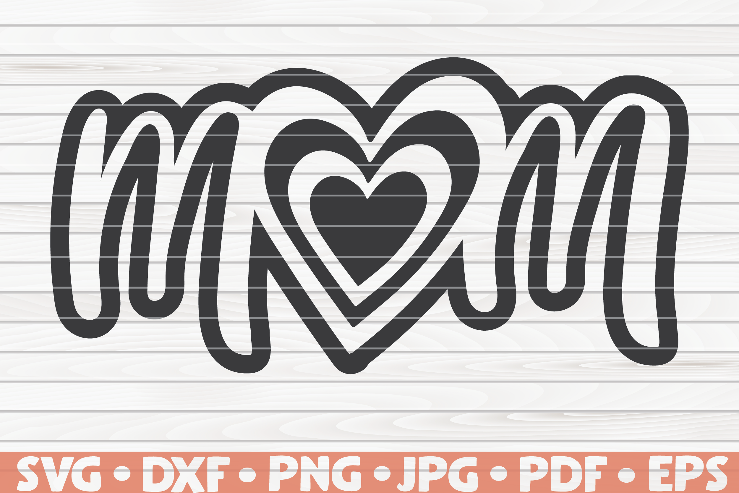 Mom Heart Svg Mother S Day By Hqdigitalart Thehungryjpeg Com