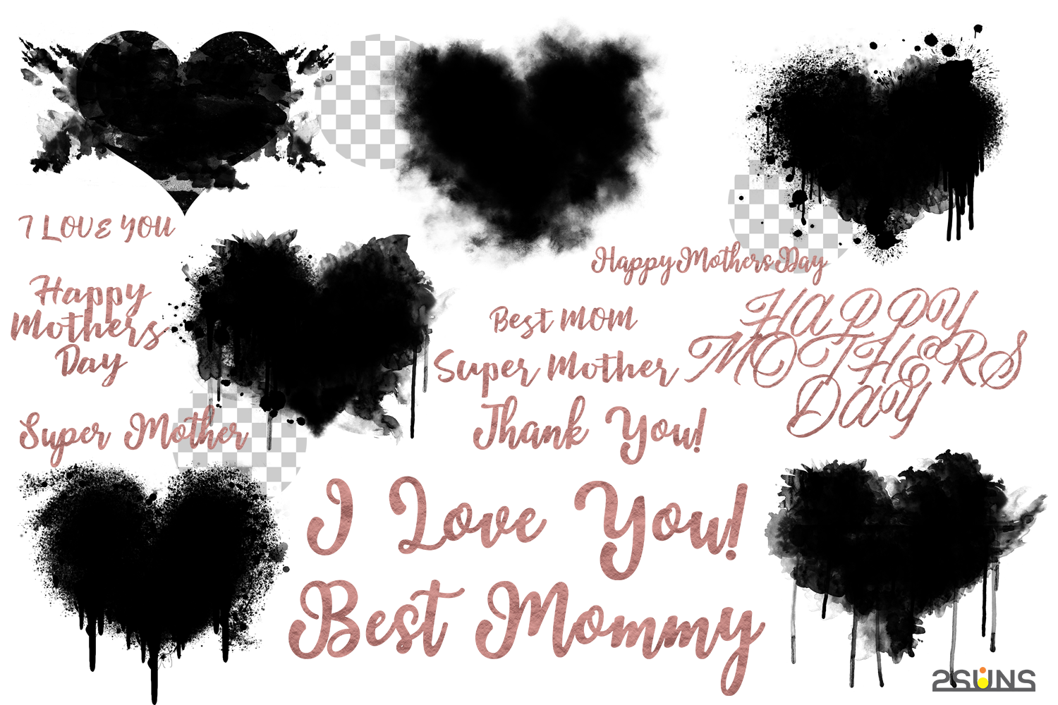 Mothers Day Watercolor Template Watercolor Brush Watecolor By