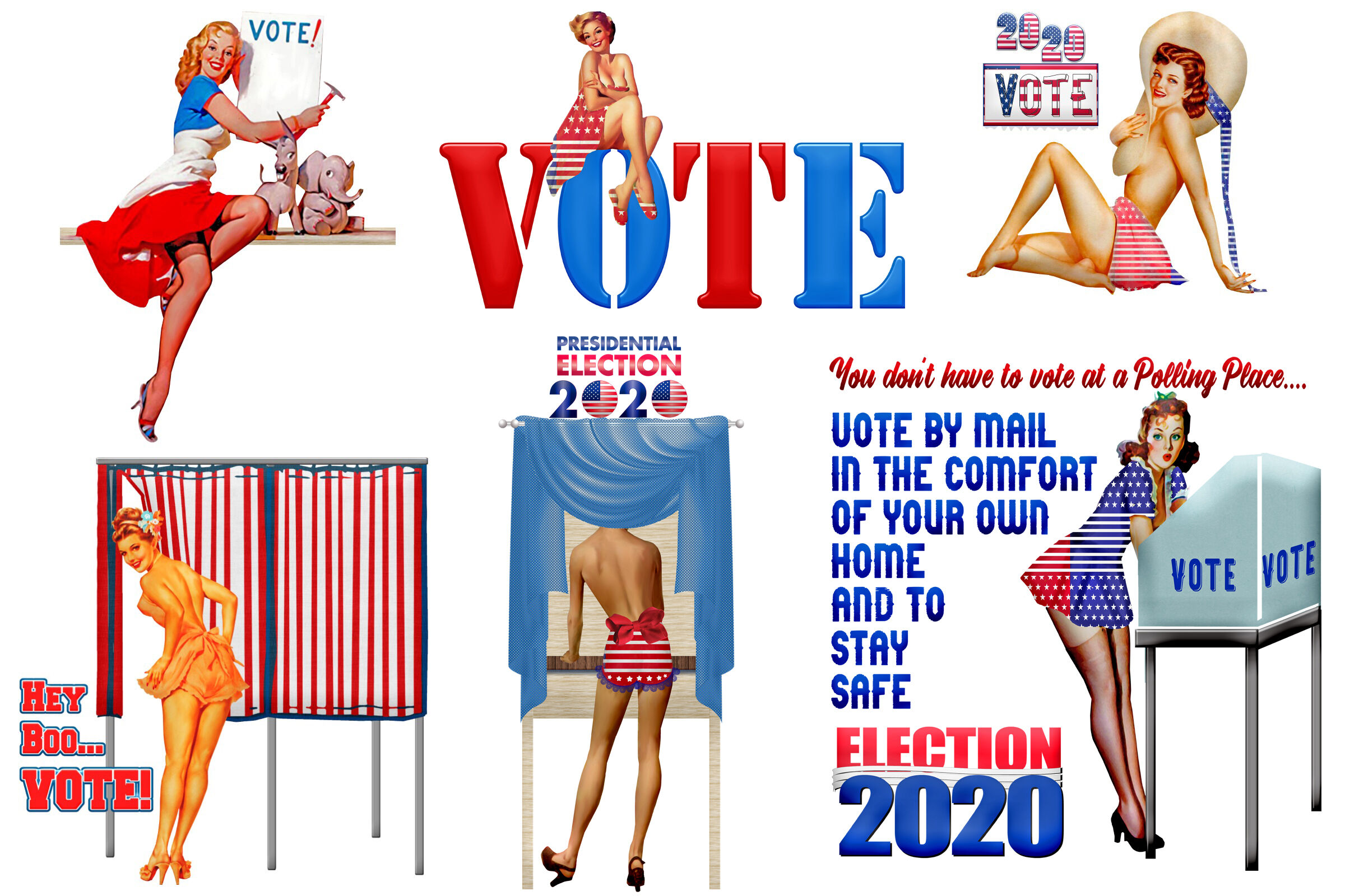 Voting Retro Pin Up Girls Clip Art By Me and Ameliè ...