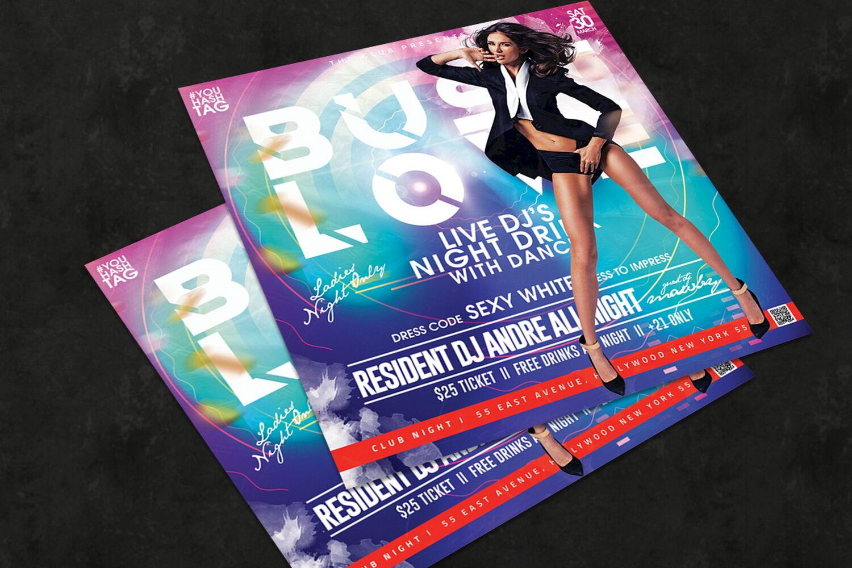 Night Club Flyer By Design Addict Thehungryjpeg Com