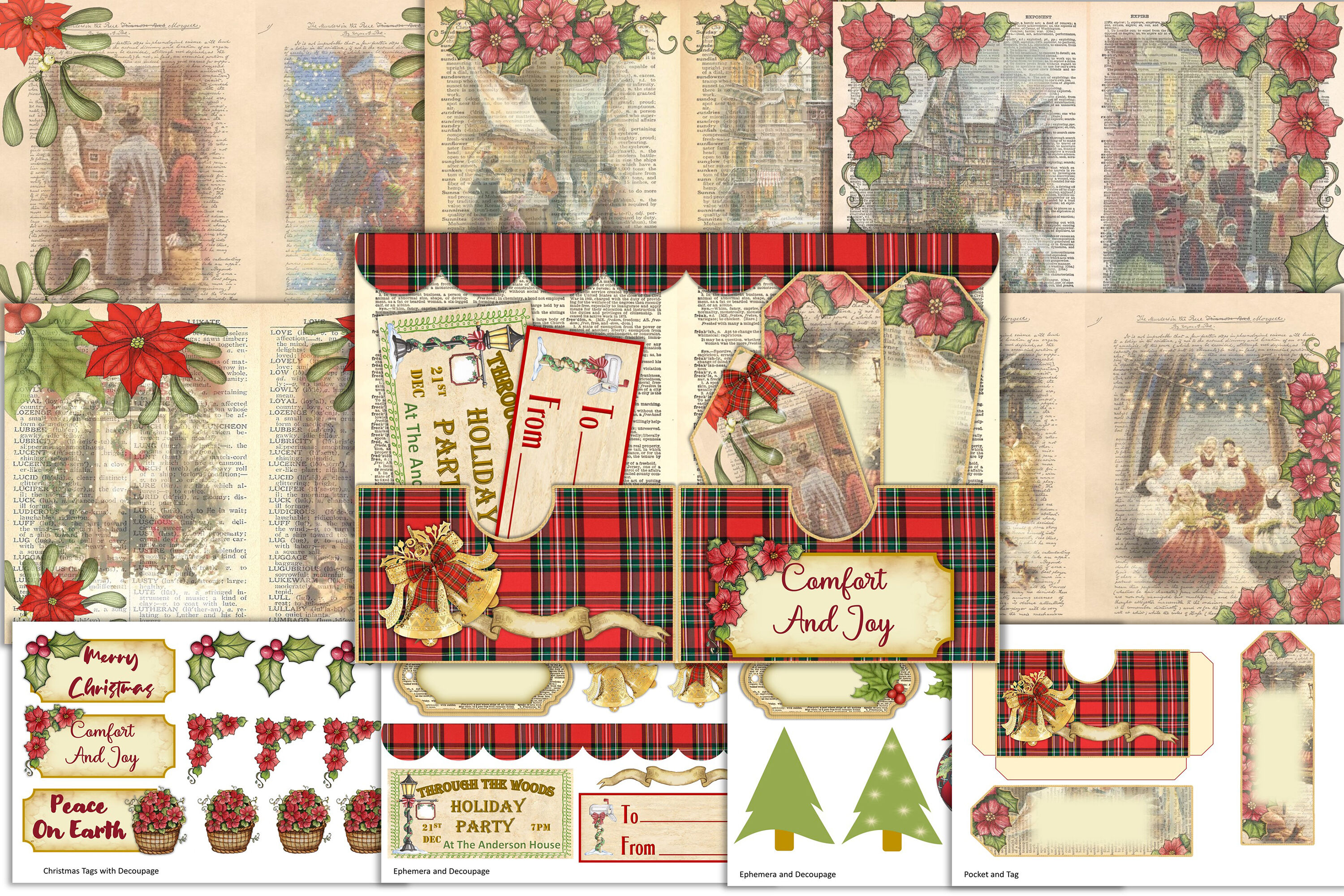 Victorian Christmas Backgrounds With Free Ephemera And Clipart By
