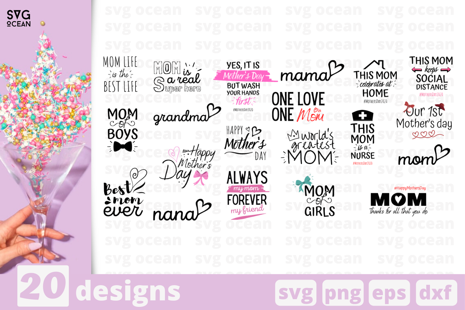 20 Mother S Day Quotes Svg Bundle Holiday Quotes Cricut Svg By