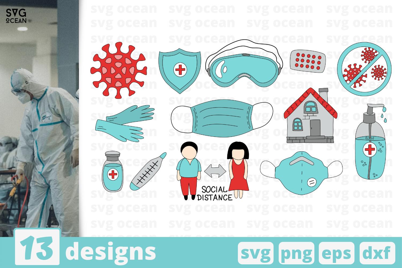 13 Quarantine Svg Bundle Elements Cricut Svg By Svgocean