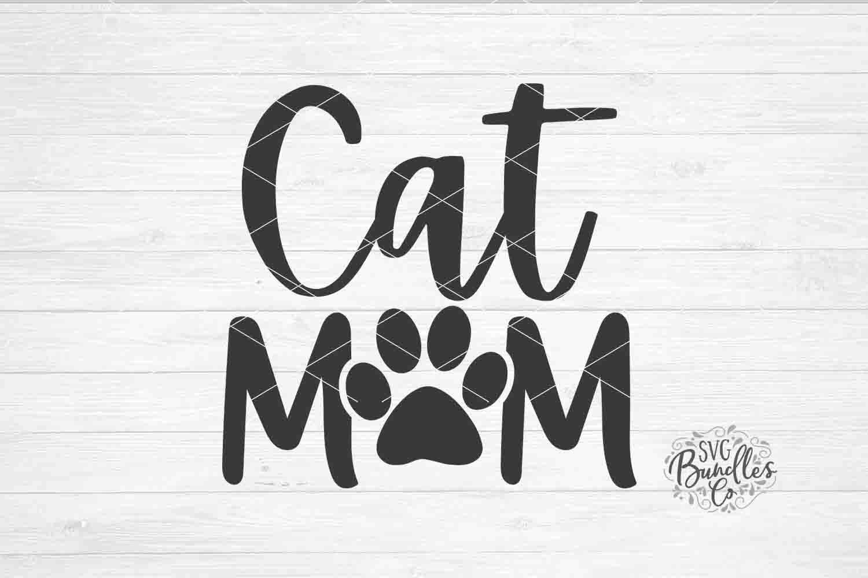 Cat Mom Svg Dxf Png By Svgbundlesco Thehungryjpeg Com