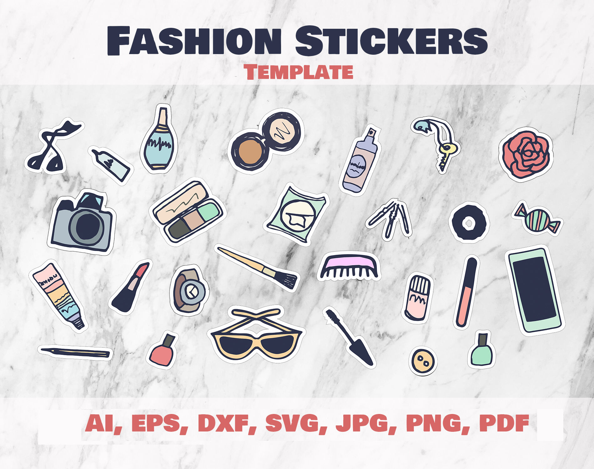 Fashion Stickers And Cliparts Vector Svg Png By Ircy Art