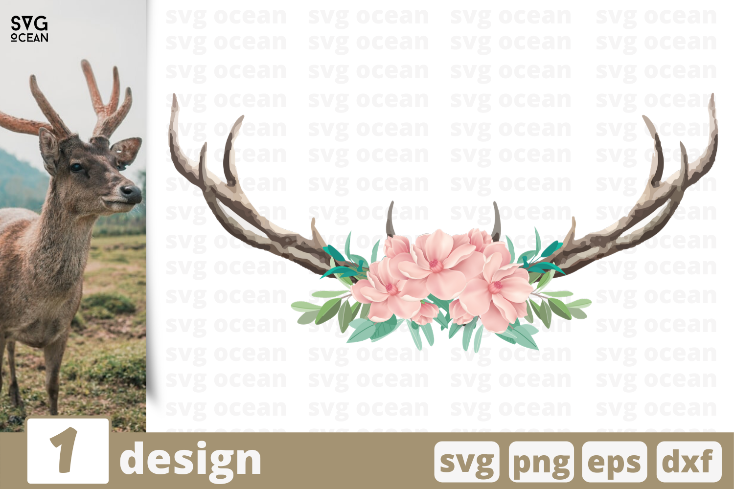 1 Deer Horns Svg Bundle Horns Cricut Svg By Svgocean
