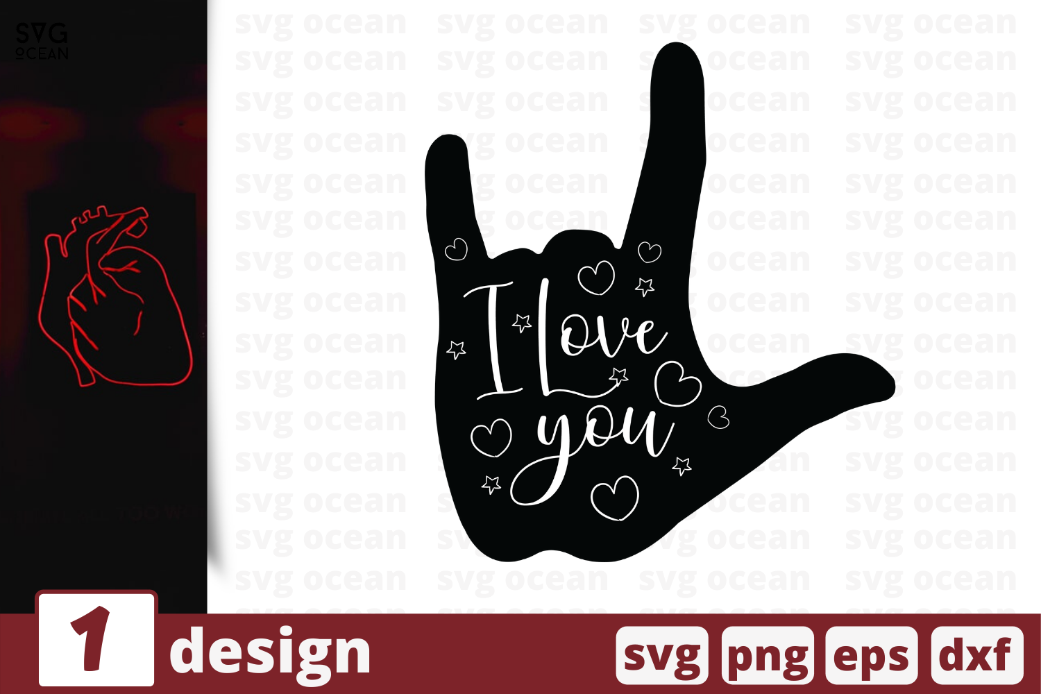 1 I Love You Svg Bundle Hand Cricut Svg By Svgocean
