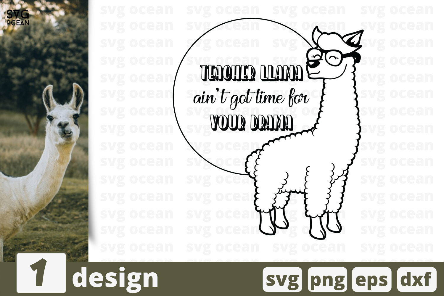 1 Teacher Llama Svg Bundle Animal Cricut Svg By Svgocean