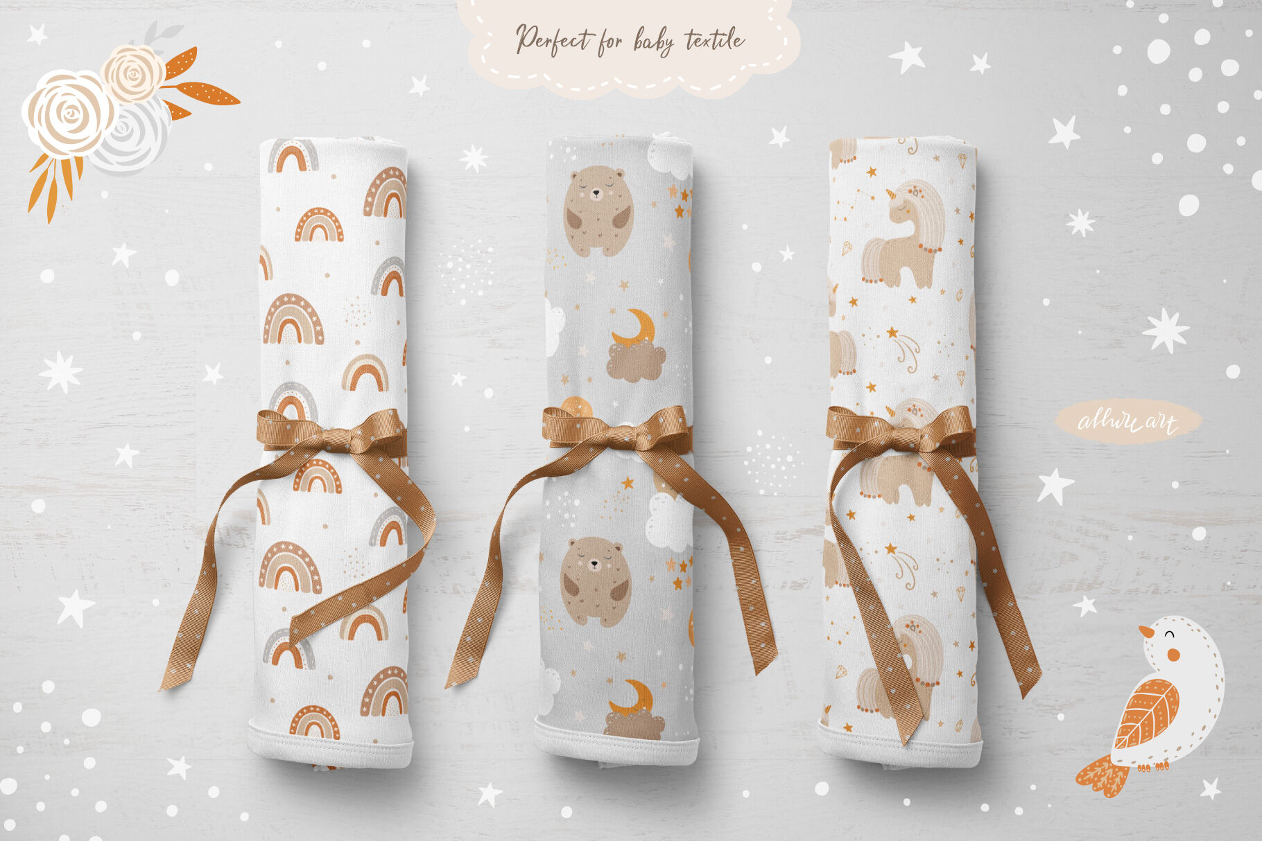 Baby Dreamer Animals Clipart Patterns By Allure Art