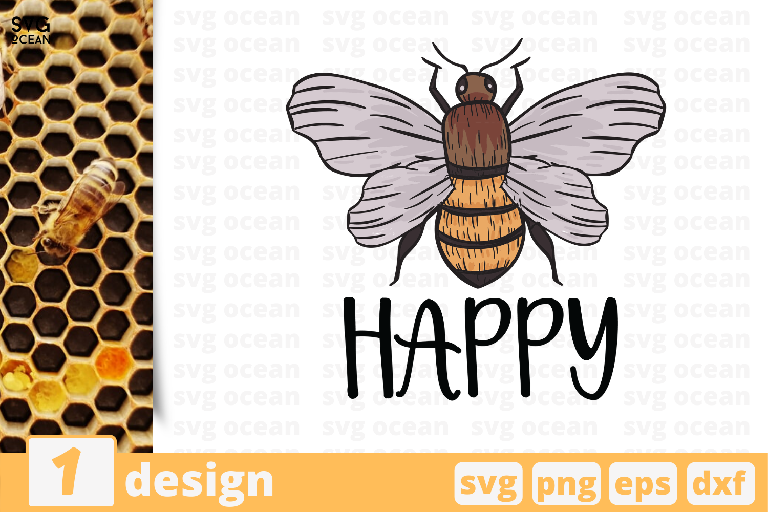 1 Happy Bee Svg Bundle Bee Cricut Svg By Svgocean Thehungryjpeg Com