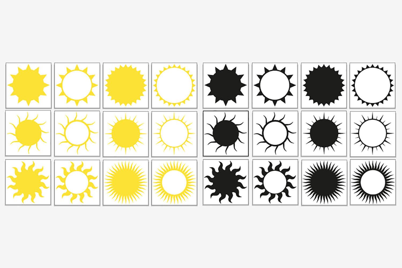 Sun Svg Bundle Sun Shape Clip Art By Gjsart Thehungryjpeg Com