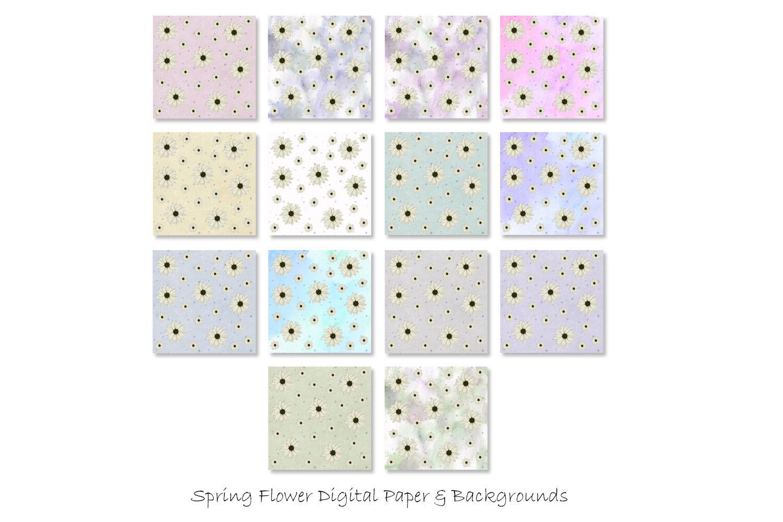 Spring Flower Digital Paper Pastel Flower Patterns By Gjsart