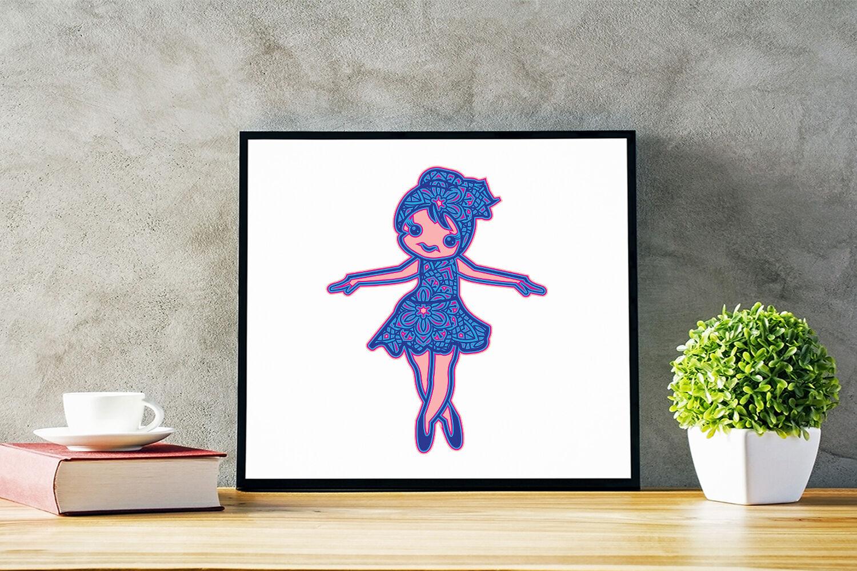 3d Svg Cute Ballerina Out Of Mandala Bundle By Sintegra