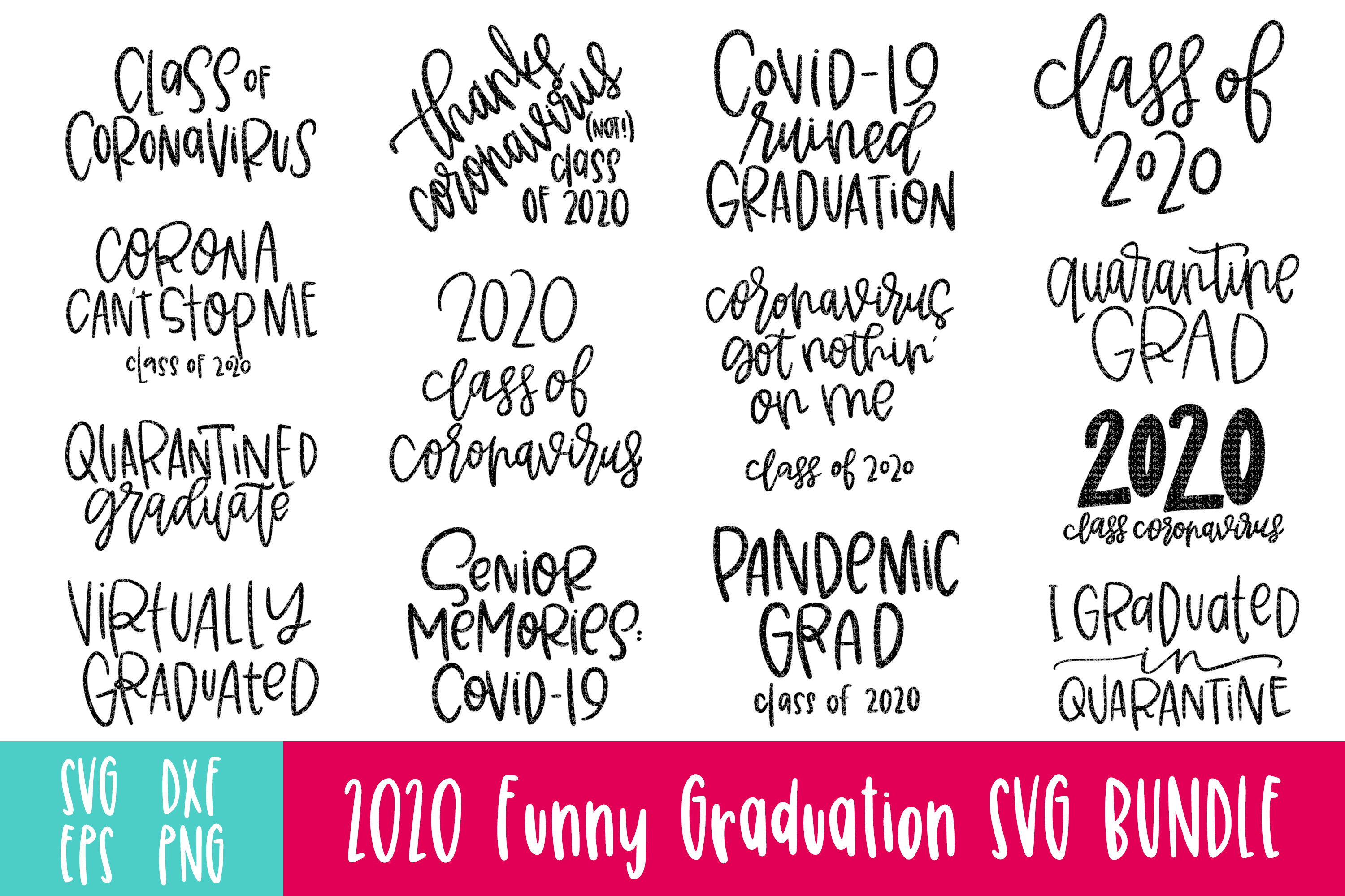 2020 Graduation Quotes Svg Bundle By Affinity Grove