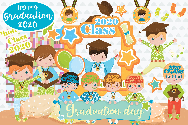 Graduation Boys 2020 Cliparts By Cute Little Workshop