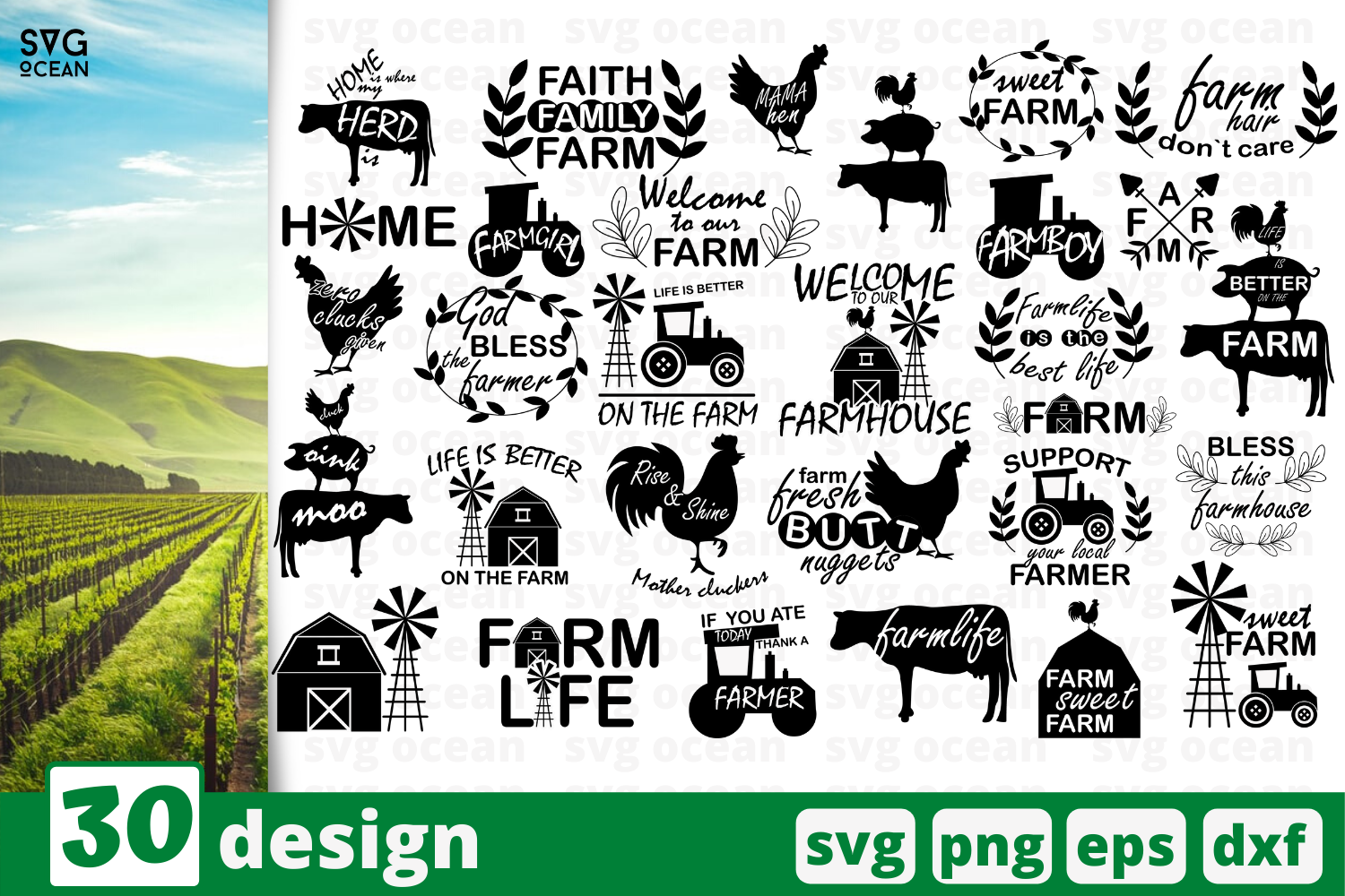 30 Farm Quotes Svg Bundle Quotes Cricut Svg By Svgocean