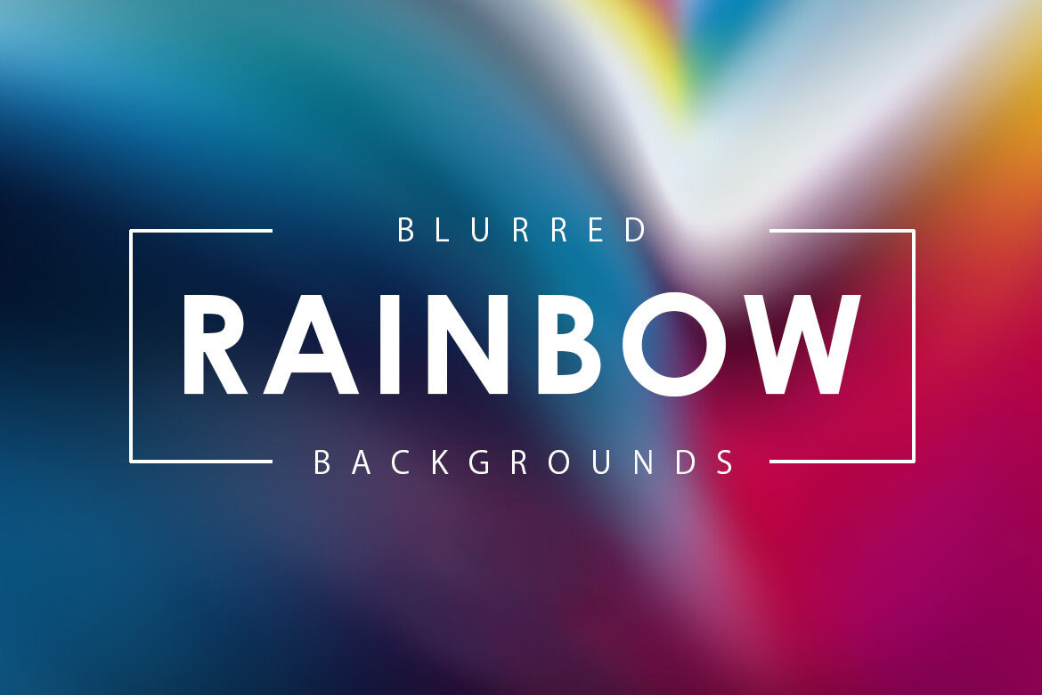 Blurred Rainbow Backgrounds By Artistmef Thehungryjpeg Com