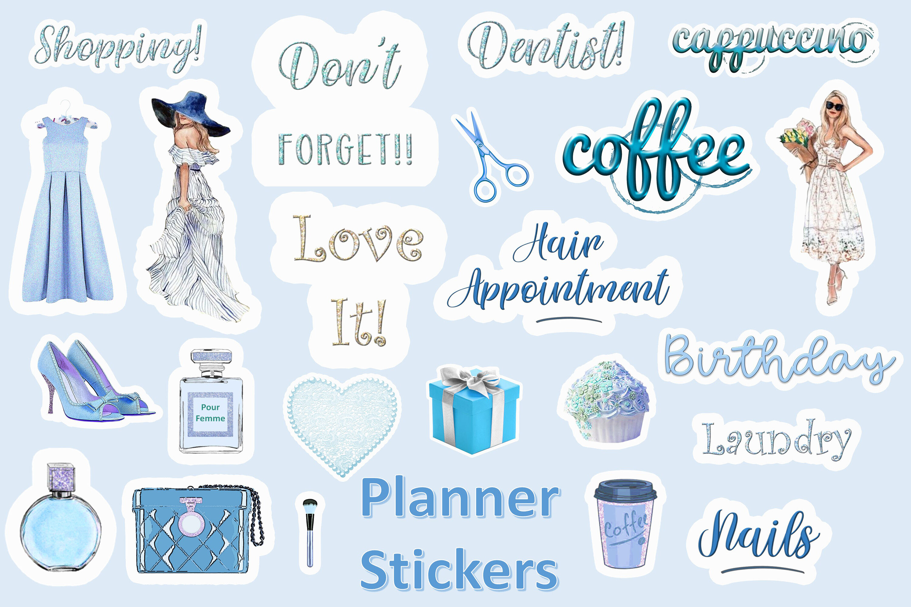 24 Planner Stickers Svg And Png Cuok By The Paper Princess