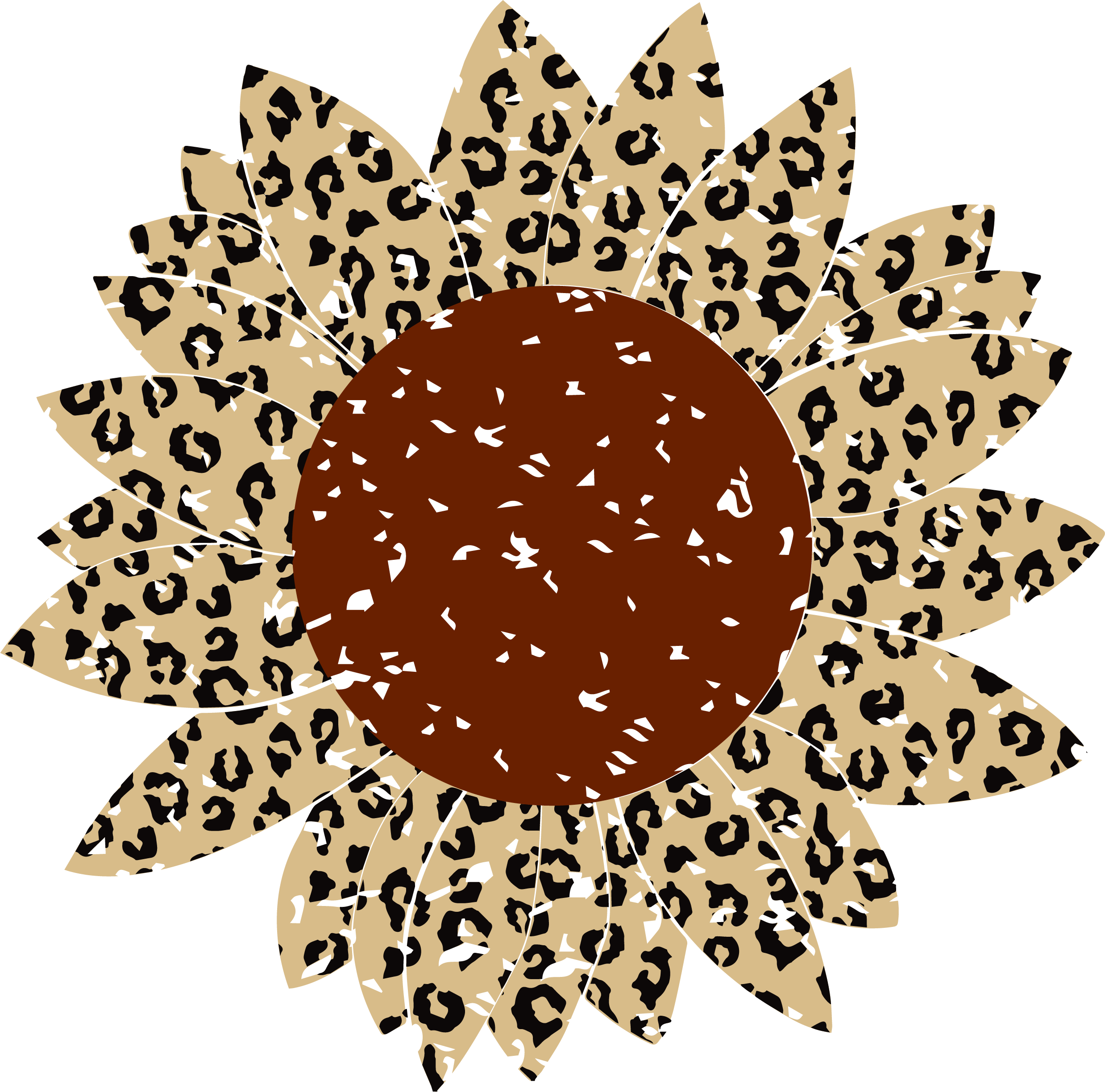 Download Sunflower Grunge Svg, Leopard Print Svg By Crafty Mama ...