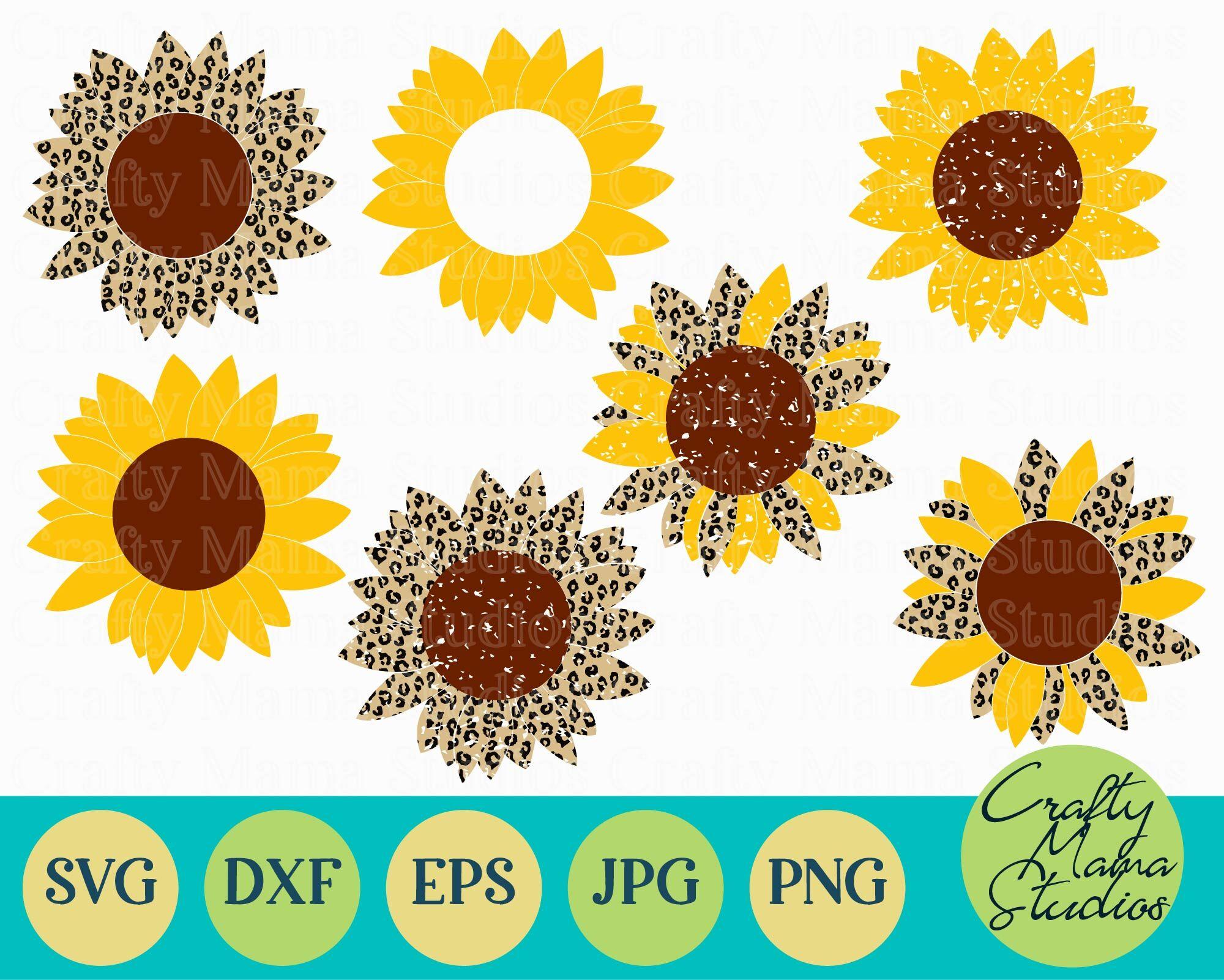 Download Sunflower Bundle Svg, Sunflower Svg, Summer Svg By Crafty ...