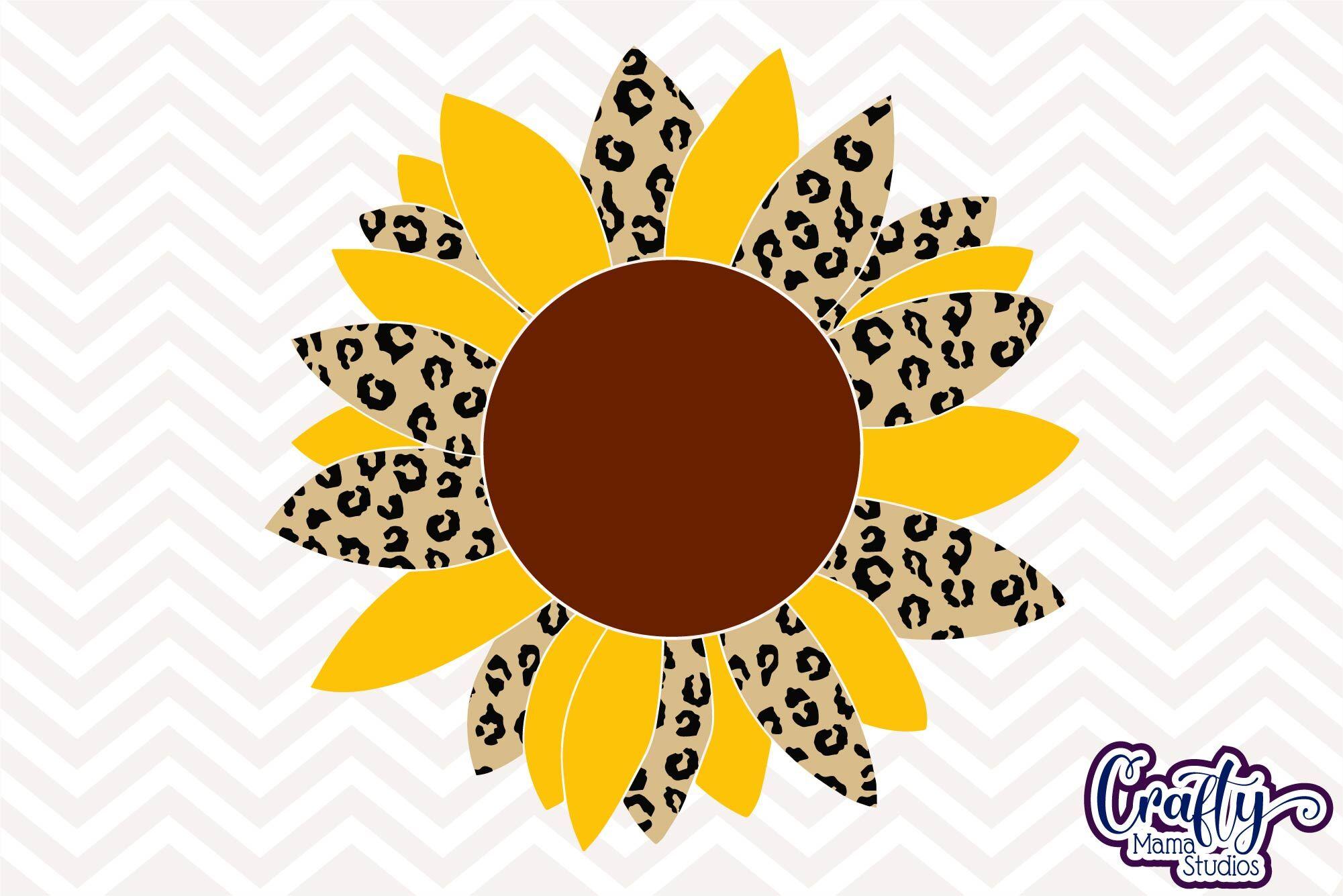 Download Sunflower Svg, Leopard Print, Summer Svg By Crafty Mama ...