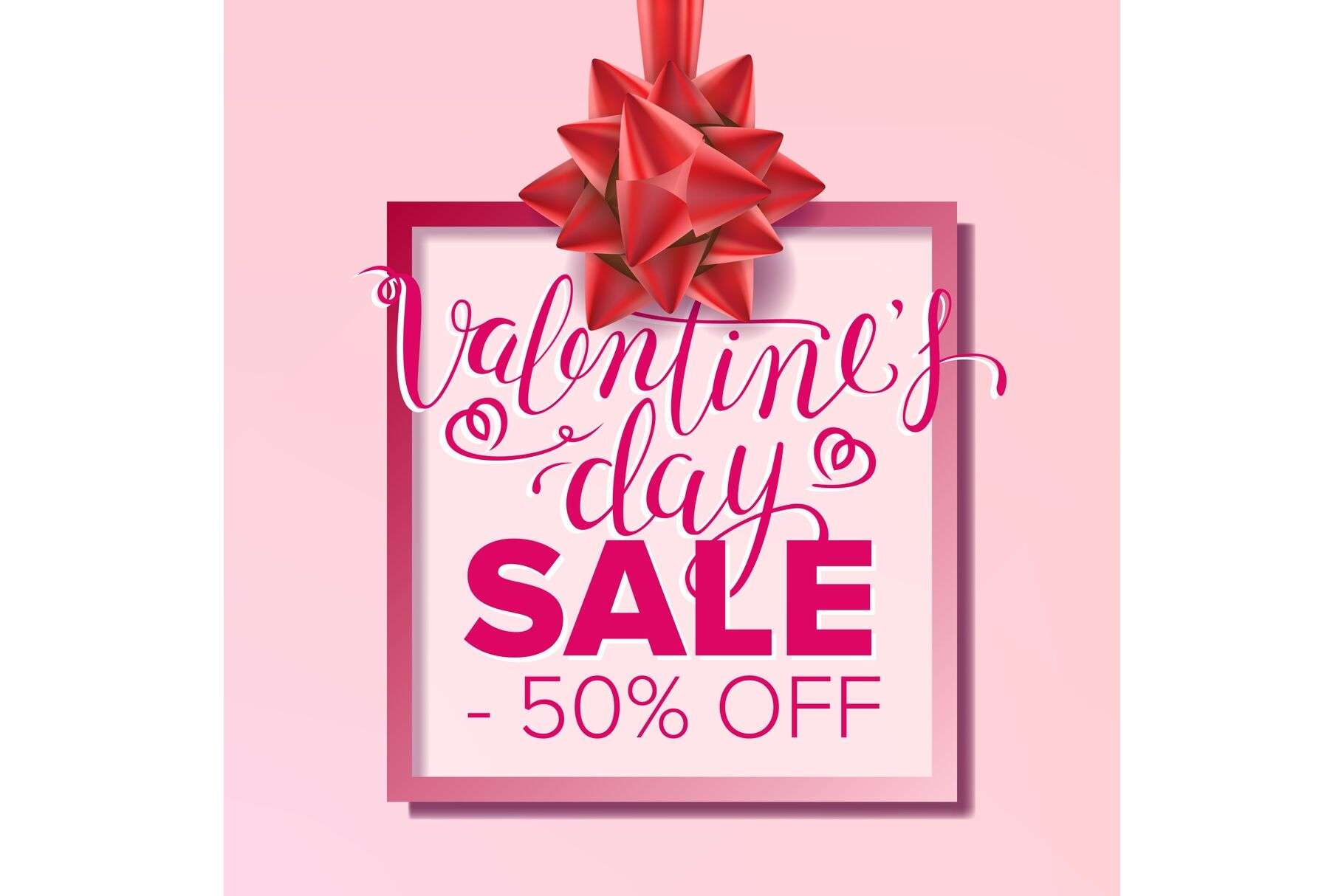 Valentine s Day Sale Banner Vector. February 14 Sale ...