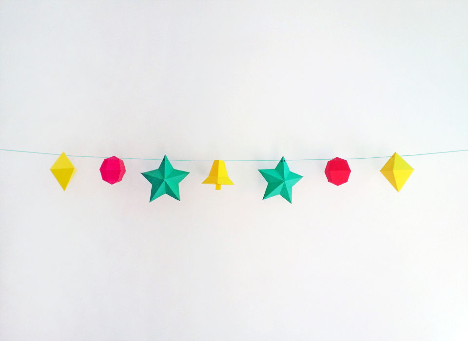 Diy Printable Christmas Bunting Flags By Paper Amaze
