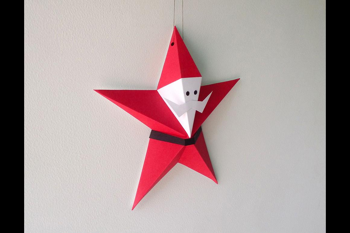 Diy Printable Star Santa Claus By Paper Amaze Thehungryjpeg Com