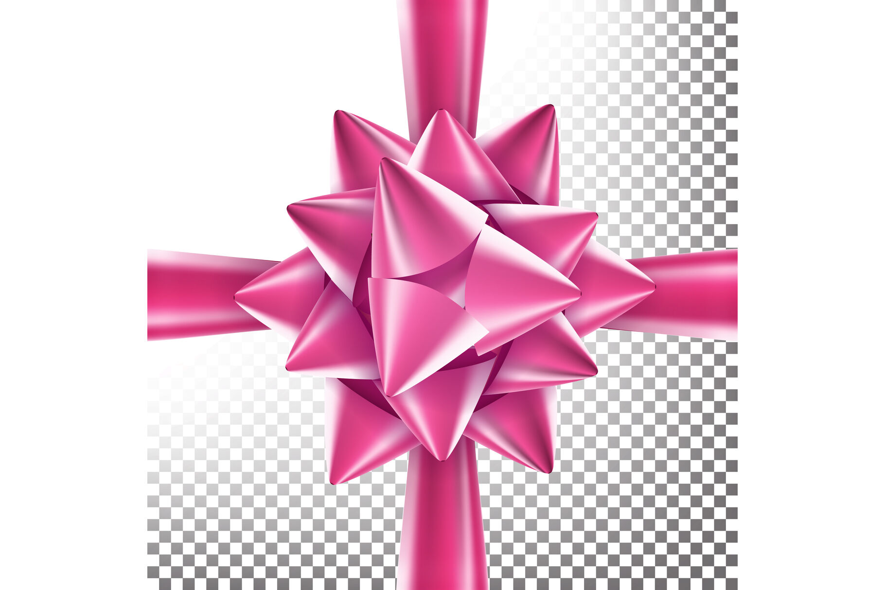 Realistic Bow Vector Decoration For Birthday Gift Anniversary