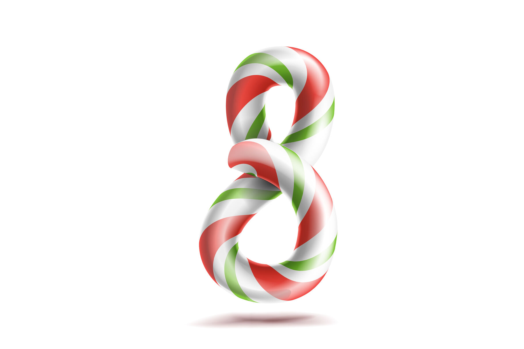 8 Number Eight Vector 3d Number Sign Figure 8 In Christmas