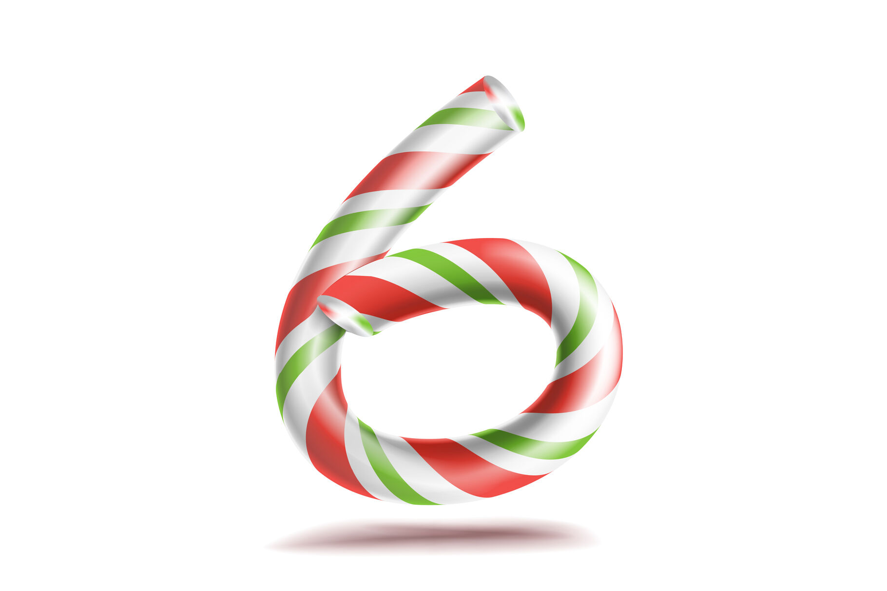 6 Number Six Vector 3d Number Sign Figure 6 In Christmas