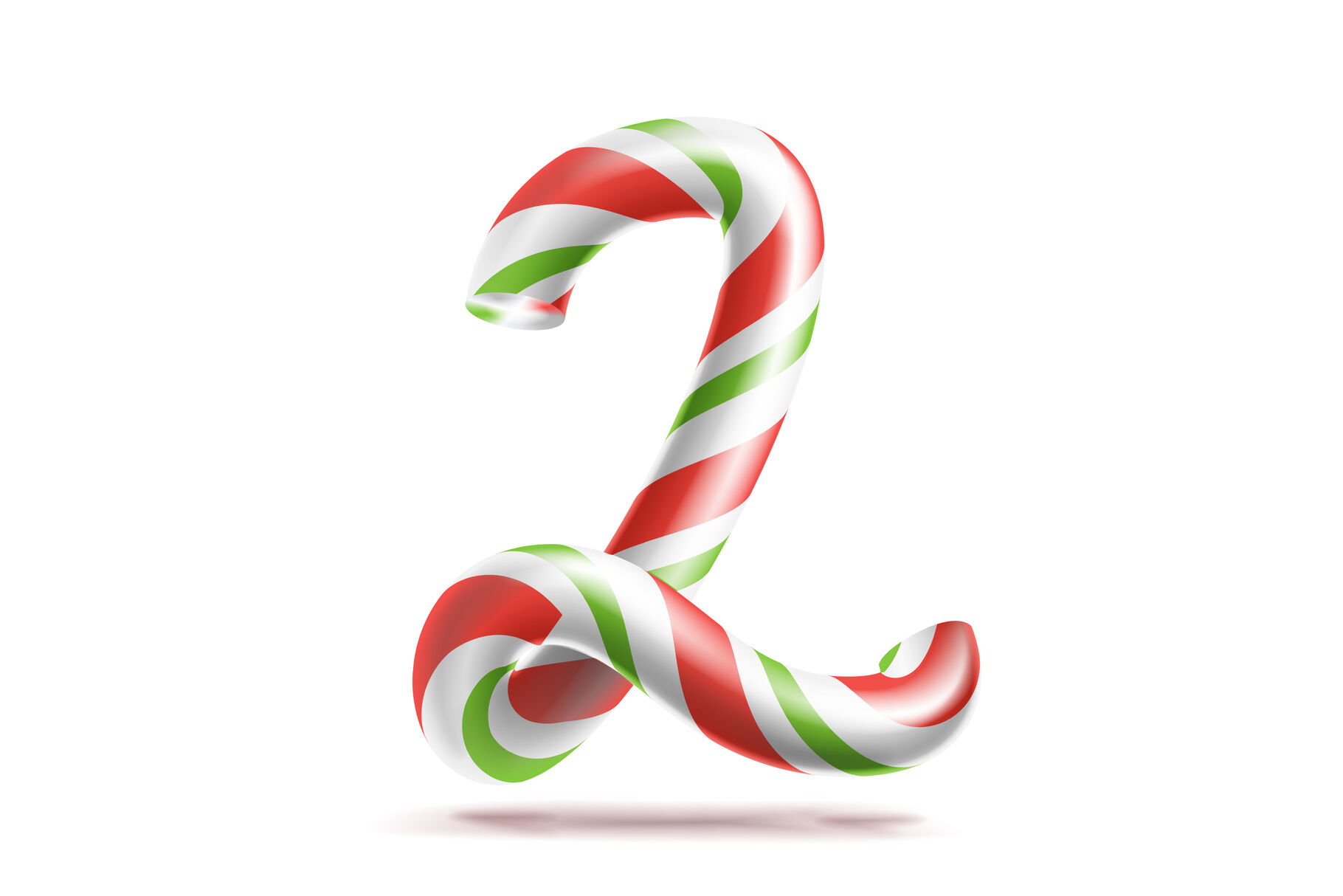 2 Number Two Vector 3d Number Sign Figure 2 In Christmas