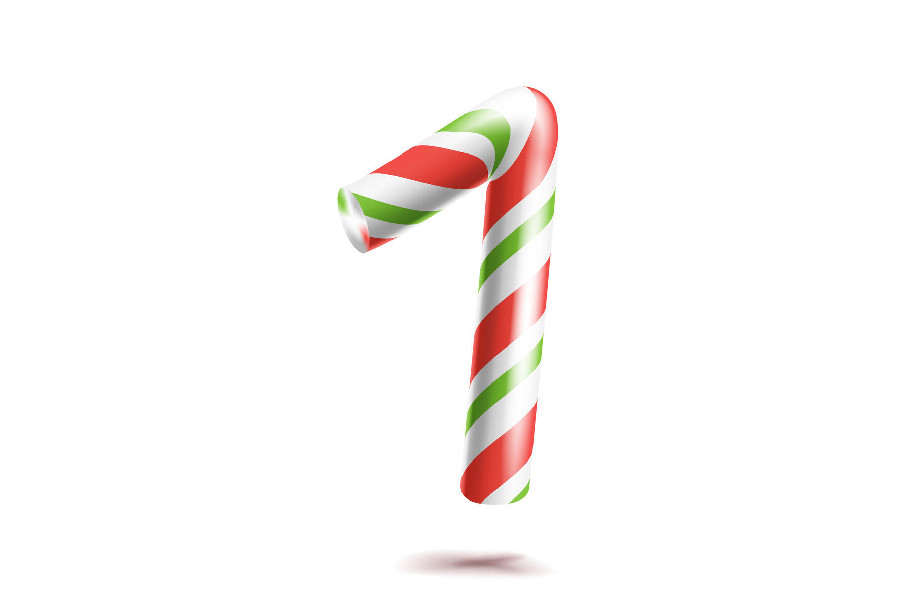 1 Number One Vector 3d Number Sign Figure 1 In Christmas