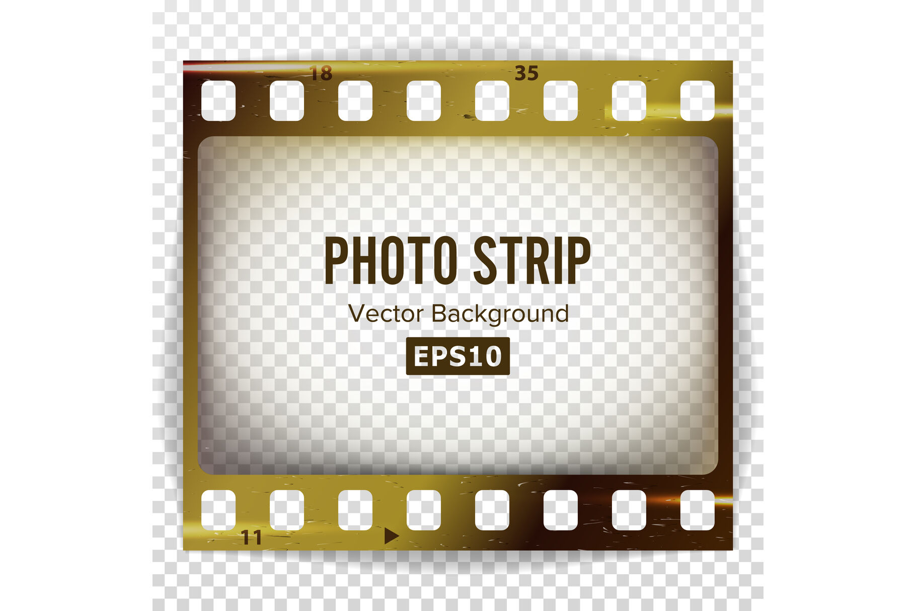photo strip vector realistic empty frame strip blank grunge scratched template isolated on white background by pikepicture thehungryjpeg com the hungry jpeg