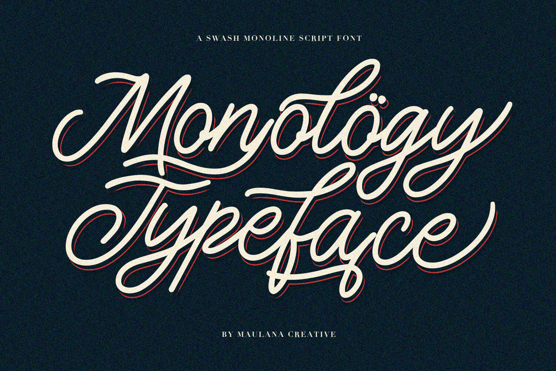 Monology Swash Script Vintage Font By Maulana Creative