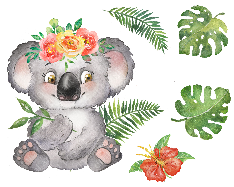 Terrific Koala Watercolor Clipart With Koalas Birthday Clipart Cake Funny Birthday Cards Online Hetedamsfinfo