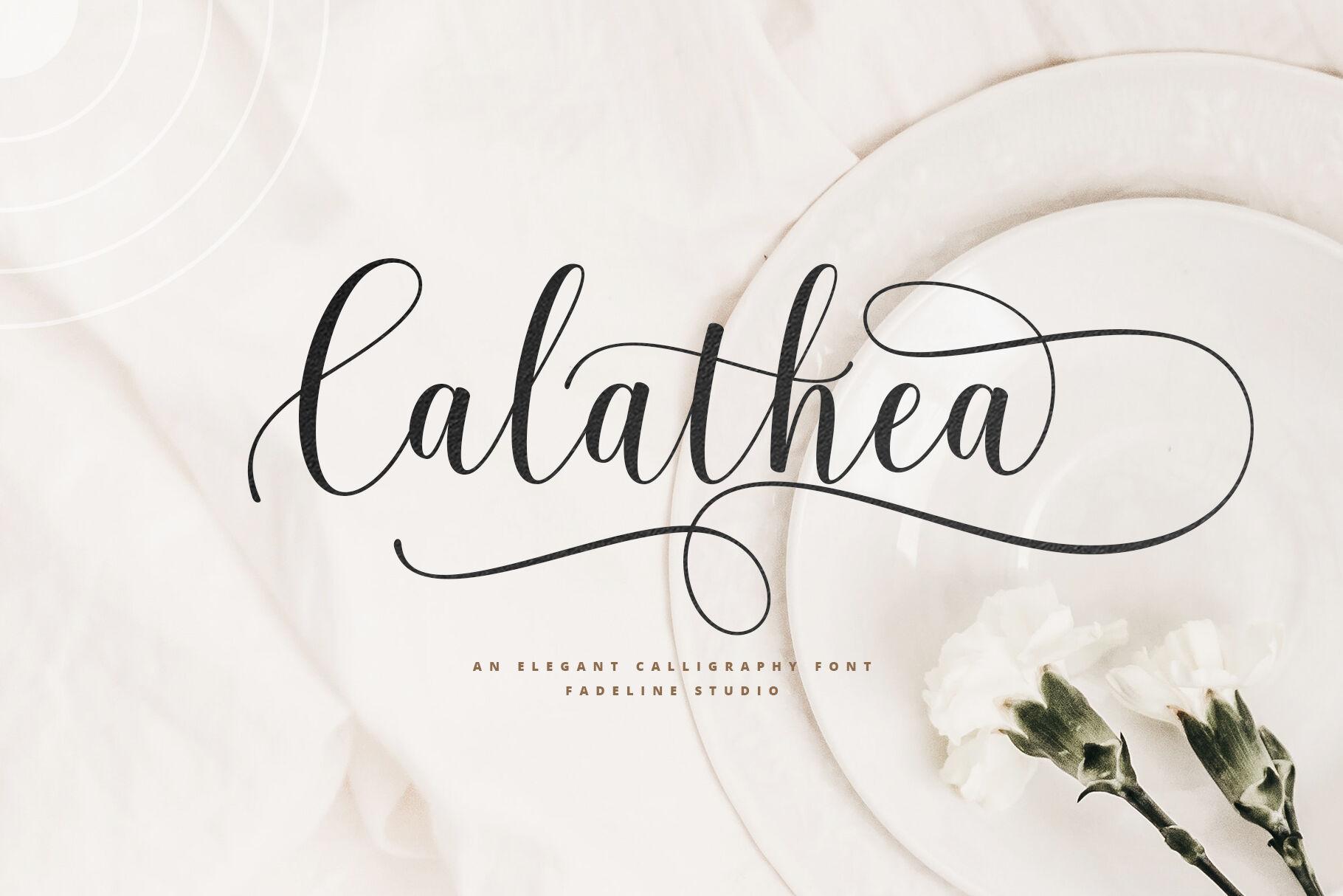 Calathea Elegant Calligraphy Font By Fadeline Thehungryjpeg Com