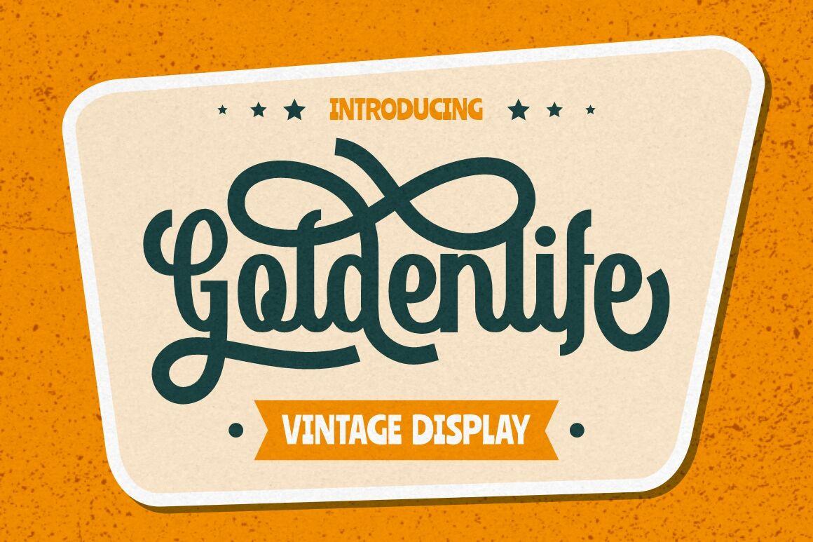 Goldenlife Vintage Display By Putracetol Studio Thehungryjpeg Com