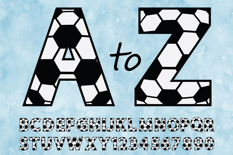 Soccer Alphabet Numbers Svg Soccer Alphabet Clipart Letters