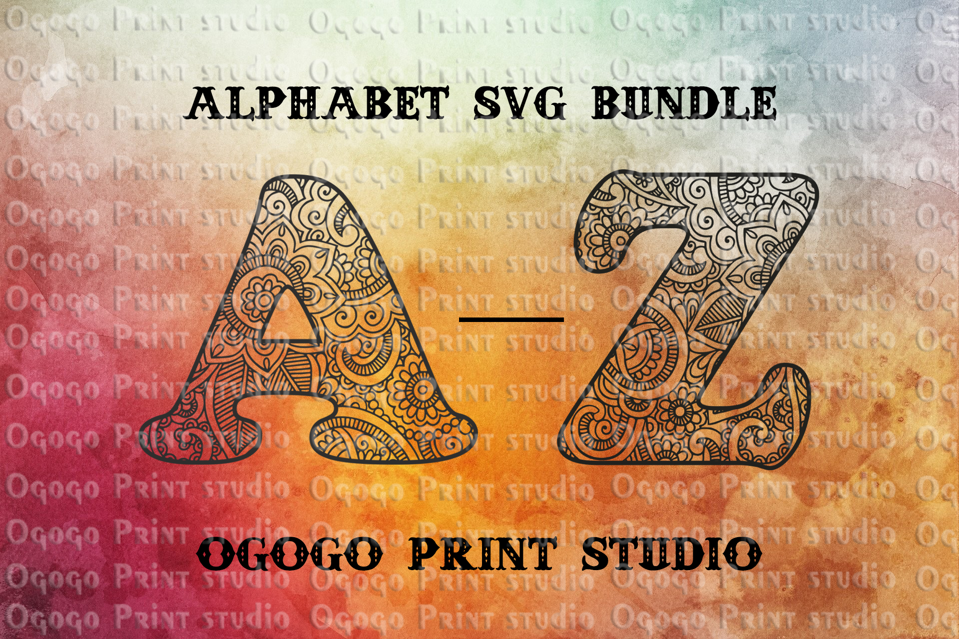 Alphabet Bundle Svg Floral Font Letter Mandala Svg By Ogogo