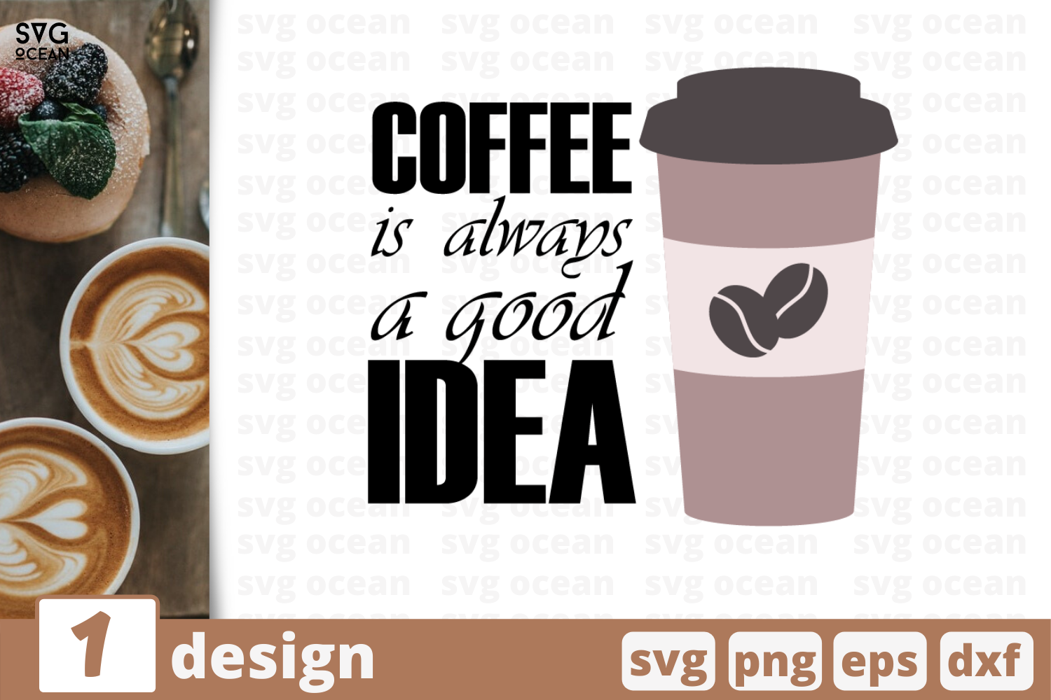 1 Coffee Is Always Good Idea Svg Bundle Quotes Cricut Svg By