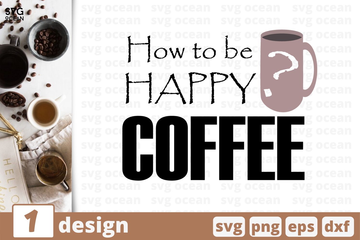 1 How To Be Happy Coffee Svg Bundle Quotes Cricut Svg By