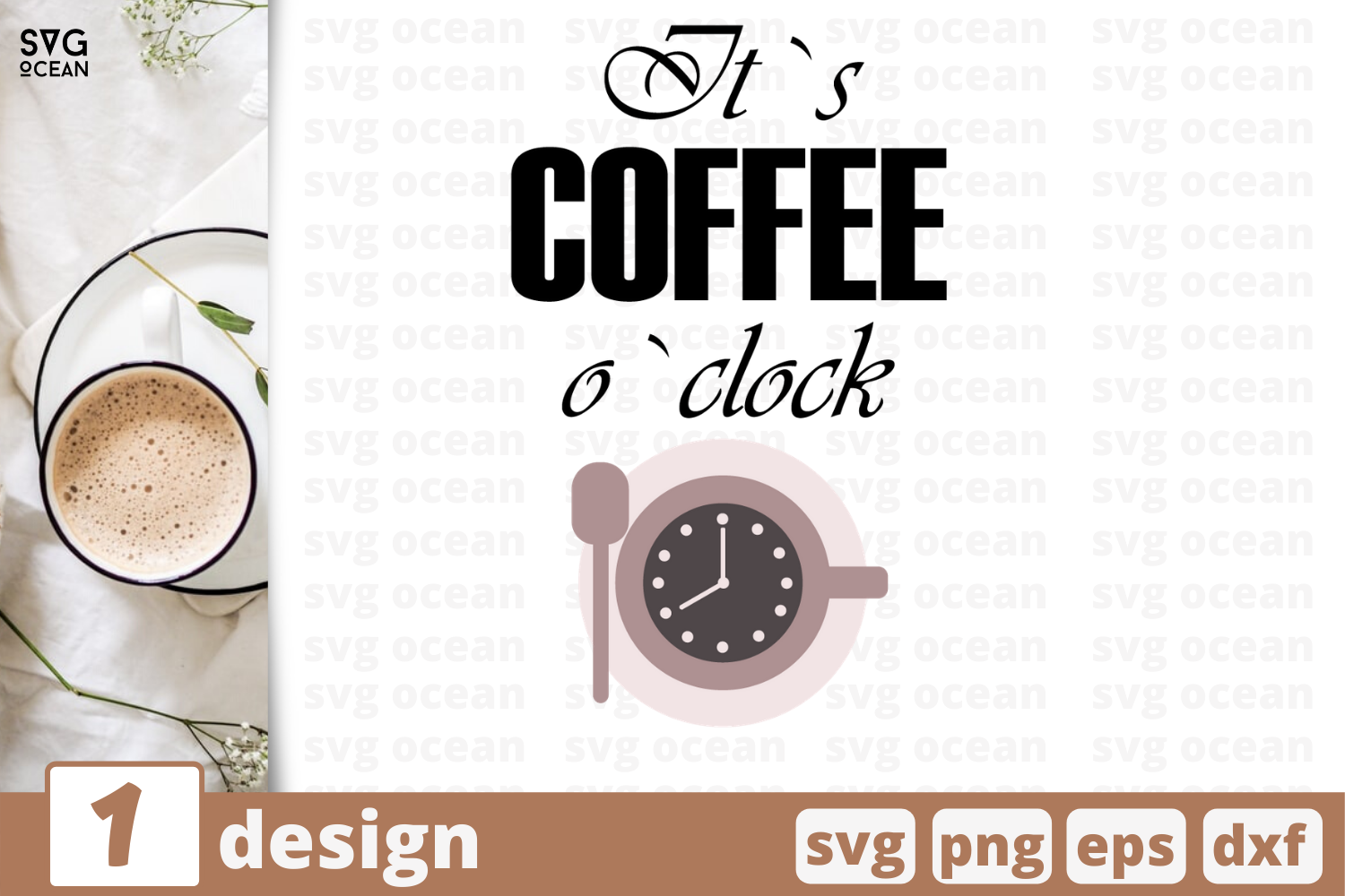 1 Its Coffee Oclock Svg Bundle Quotes Cricut Svg By Svgocean