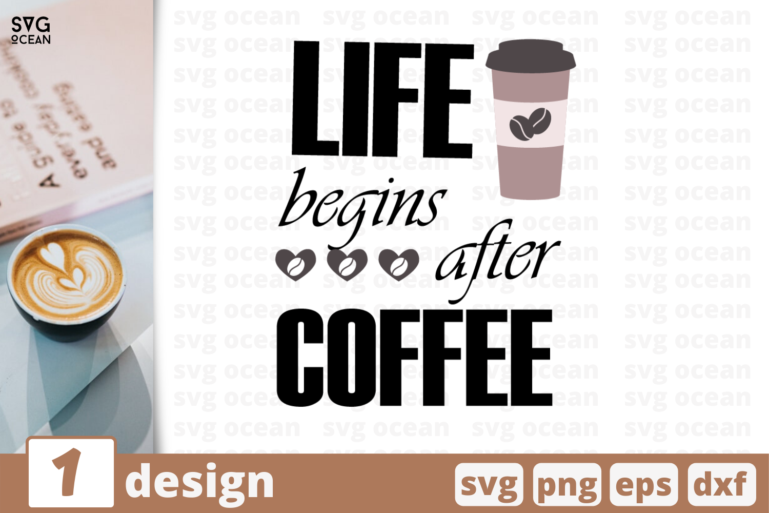 1 Life Begins After Coffee Svg Bundle Quotes Cricut Svg By