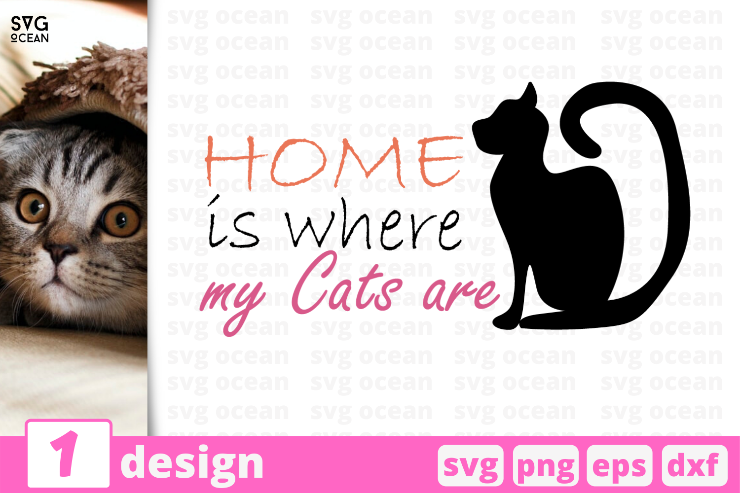 1 Home Is Where My Cats Are Svg Bundle Quotes Cricut Svg By